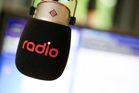 Mikrofon im Radio WAF Sendestudio