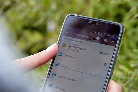 Online-Banking-App auf einem Smartphone