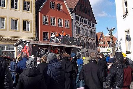 Gruppe verkleideter Jecken aus Warendorf