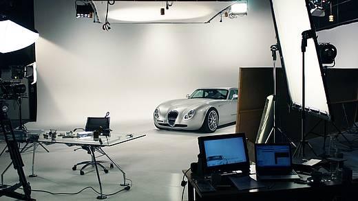 Studiodreh mit Auto