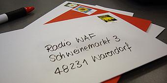 Brief ist an Radio WAF adressiert