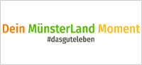 Logo mit Claim Dein MünsterLand Moment #dasguteleben